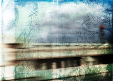 Grunge movement background Stock Images