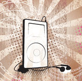 Grunge MP3. MP3 player on textured background. Separated elements Royalty Free Stock Image