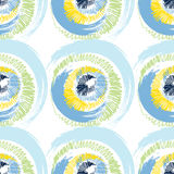 Grunge multicolored circles on white background Royalty Free Stock Image