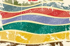 Grunge multicolored stripes background. Vector Royalty Free Stock Photo