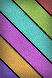 Grunge multicolored stripes recycled paper craft Royalty Free Stock Photography