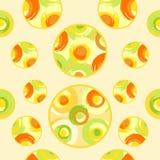 Grunge multicoloured circles Stock Photos