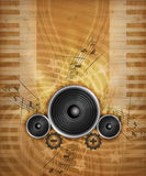 Grunge Music. Abstract Illustration of electronical Music with boxes Royalty Free Stock Photos