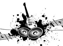 Grunge Music. Cool wacky grunge Music background with music details Royalty Free Stock Images