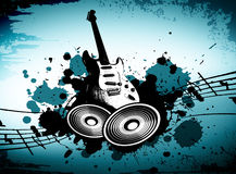 Grunge Music. Cool wacky grunge Music background with music details Royalty Free Stock Photo
