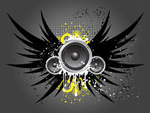 Grunge music vector illustration