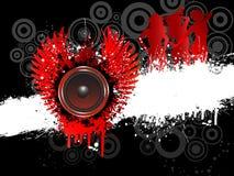 Grunge music royalty free illustration