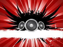Grunge music. Background with crowd silhouette Royalty Free Stock Images