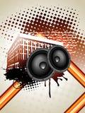 Grunge music art Stock Image