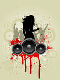 Grunge music background Stock Photos
