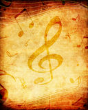 Grunge music background. Grunge background with many musical notes Royalty Free Stock Images