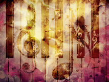 Grunge music background. Abstract grunge, vintage music with notes background Stock Image