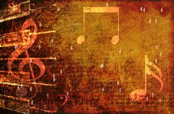 Grunge music background Stock Photography