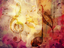 Grunge Music Background Royalty Free Stock Images