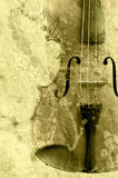 Grunge music background. With old fiddle stock illustration