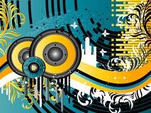 Grunge Music Background Stock Photos
