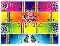 Grunge music banners Royalty Free Stock Photos