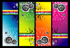 Grunge music banners Stock Photography