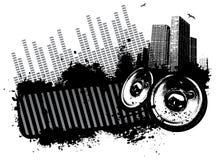 Grunge music city Stock Images