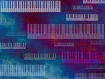 Grunge Music Dark Keyboard Background Royalty Free Stock Photos