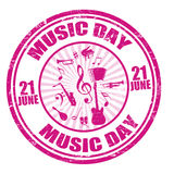 Music day  stamp Stock Photos