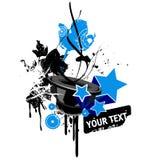 Grunge music design Stock Images
