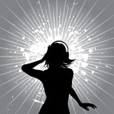 Grunge music female Royalty Free Stock Image
