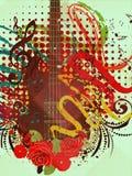 Grunge Music Guitar Background Stock Photography