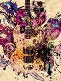 Grunge Music Guitar Background Stock Photos