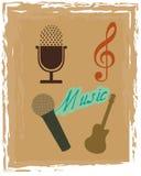Grunge music icons Royalty Free Stock Photos