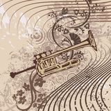 Grunge Music Instrument Background Royalty Free Stock Photography