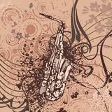 Grunge Music Instrument Background Stock Images