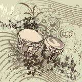 Grunge Music Instrument Background Stock Photos