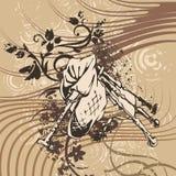 Grunge Music Instrument Background Vector Illustration
