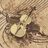 Grunge Music Instrument Background stock illustration