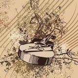 Grunge Music Instrument Background Stock Photo