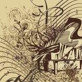 Grunge Music Instrument Background Royalty Free Stock Image
