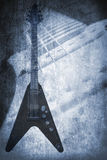 Grunge music instrument Stock Photos
