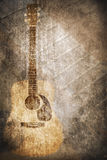 Grunge music instrument Royalty Free Stock Image