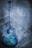 Grunge music instrument. Concept Background Royalty Free Stock Photo