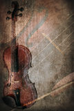Grunge music instrument. Concept Background Stock Photography