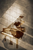 Grunge music instrument. Concept Background Stock Images