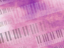 Grunge Music keyboard Background Royalty Free Stock Images