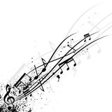 Grunge music notes. Black grunge music note banner. eps10 Royalty Free Stock Images