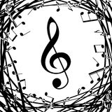 Grunge music notes Royalty Free Stock Photography