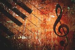 Grunge music pattern background stock photo