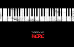Grunge music piano background vector illustration
