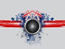Grunge music speaker Royalty Free Stock Image