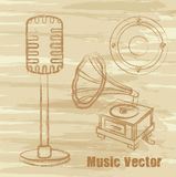 Grunge music vector Stock Images