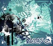 Grunge music vector Royalty Free Stock Photo